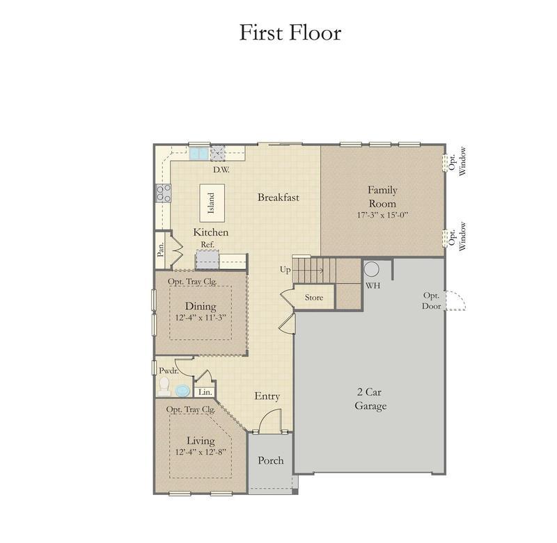 Drayton Home Plan By Dan Ryan Builders In Paddlers Cove