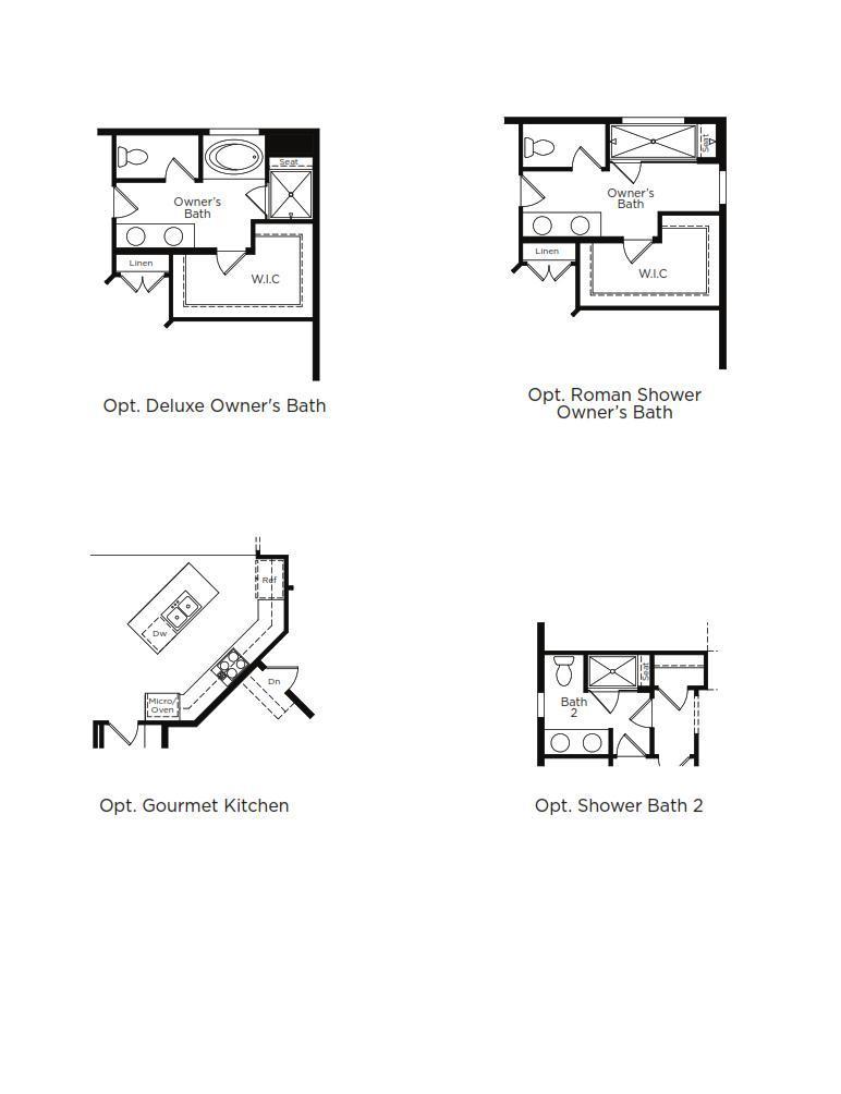 St. Barts Home Plan by Dan Ryan Builders in Hawthorne