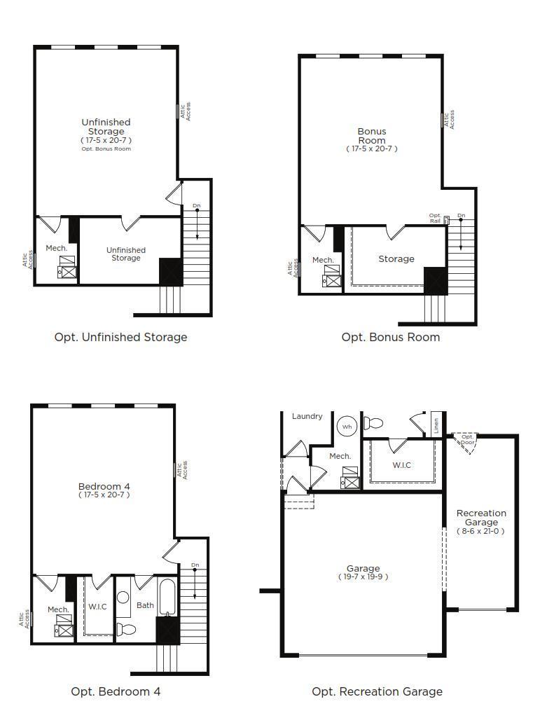 St. Lucia Home Plan by Dan Ryan Builders in Hawthorne