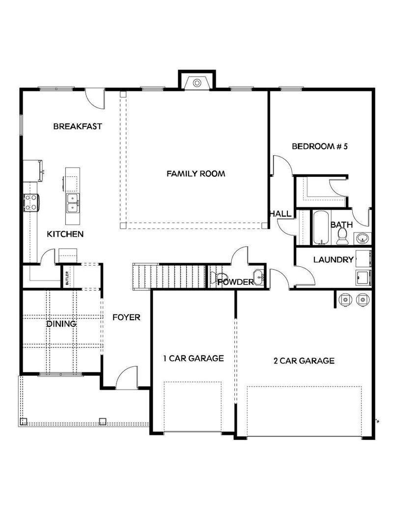 Rosemary II Home Plan by Dan Ryan Builders in The Registry