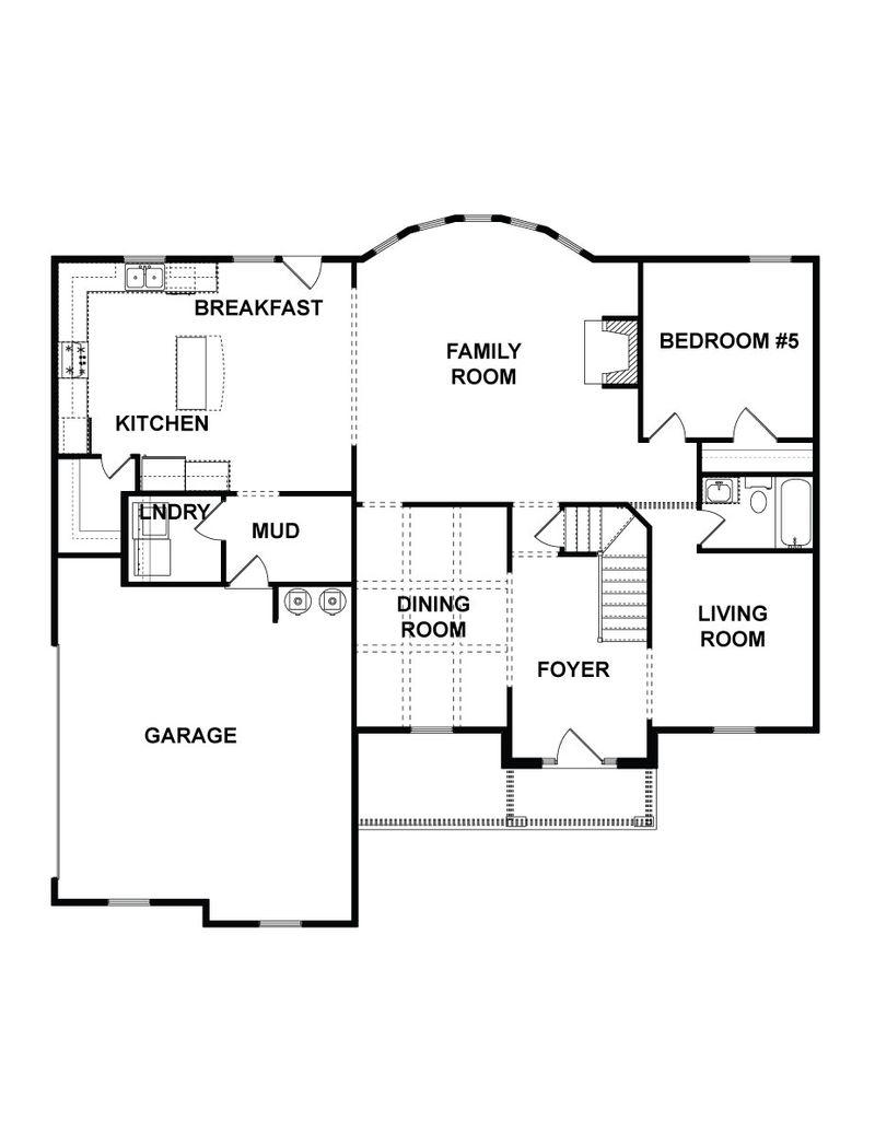 Perkins Home Plan By Dan Ryan Builders In Kingston