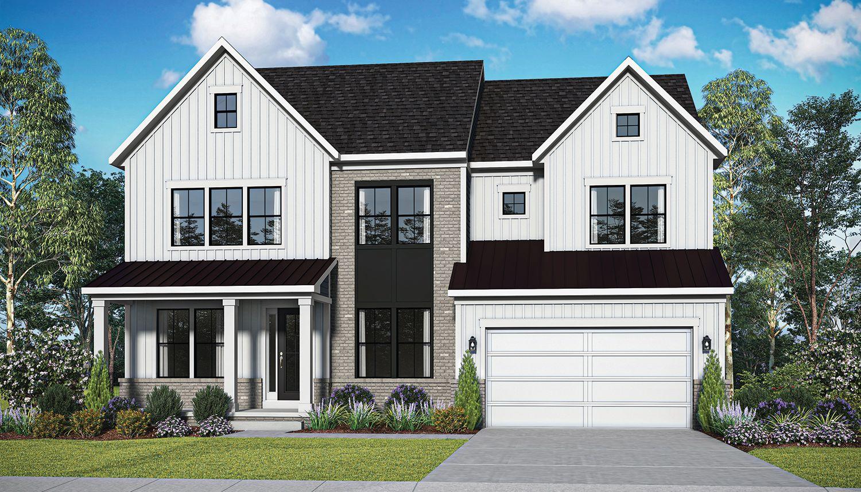 Exterior featured in the Emory II By Dan Ryan Builders in Washington, VA