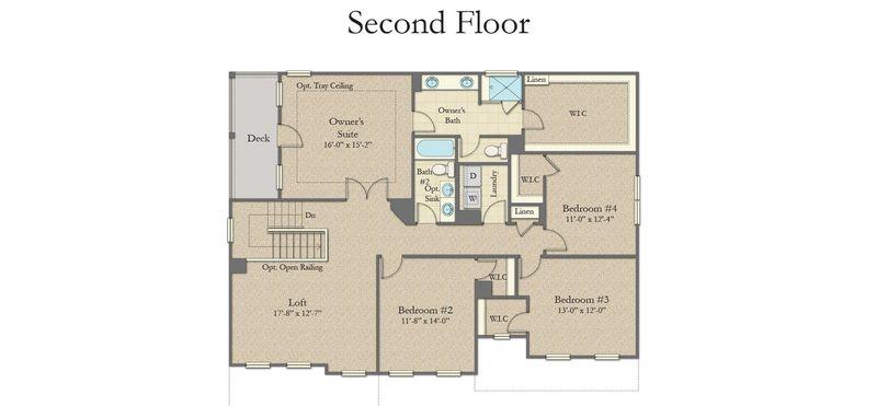 Stonefield Home Plan By Dan Ryan Builders In South Pointe