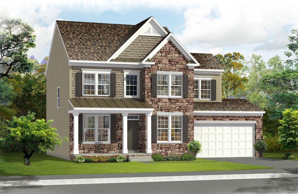 Newbury ii home plan by dan ryan builders in westfields for Home architecture newbury