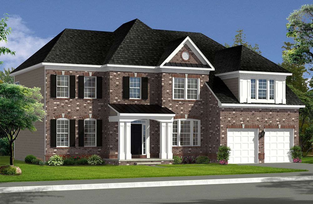 Biltmore ii home plan by dan ryan builders in old dominion for Wv home builders