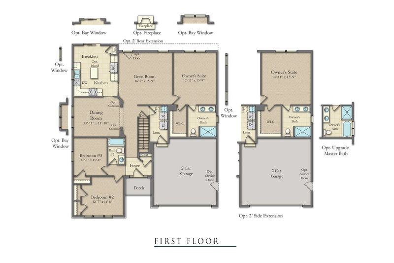 Juniper ii home plan by dan ryan builders in nottingham for Juniper floor plan