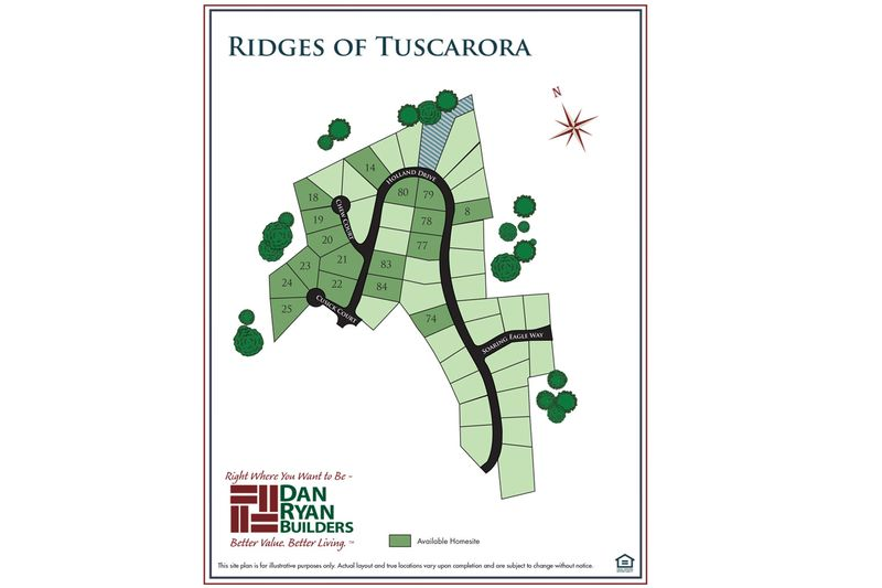 Ridges of Tuscarora Site Map