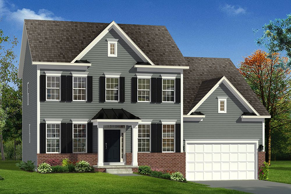 Fairfax ii home plan by dan ryan builders in shipley meadows for Maryland home builders