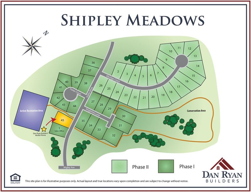 Shipley Meadows Site Map