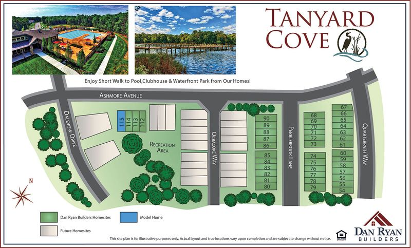 Tanyard Cove Site Map