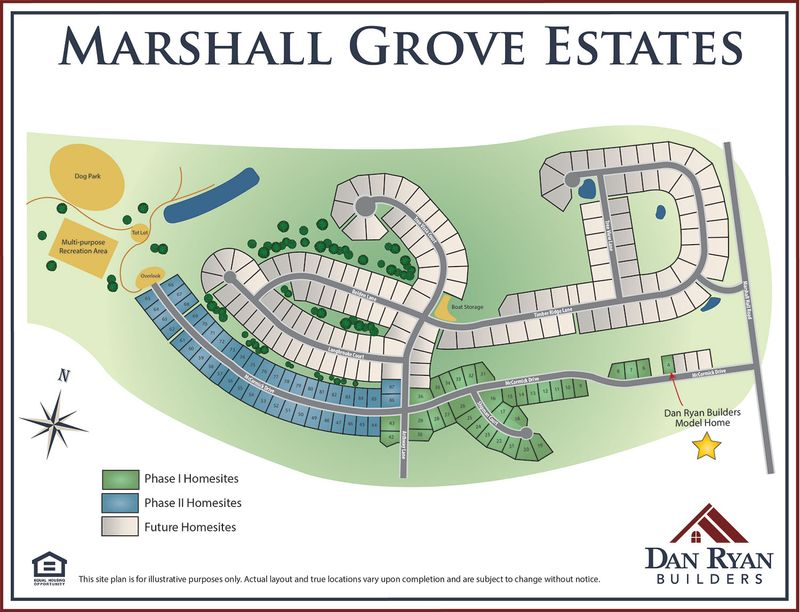 Marshall Grove Site Map