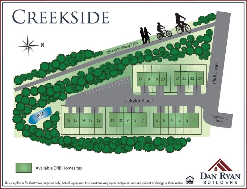 Creekside Site Map