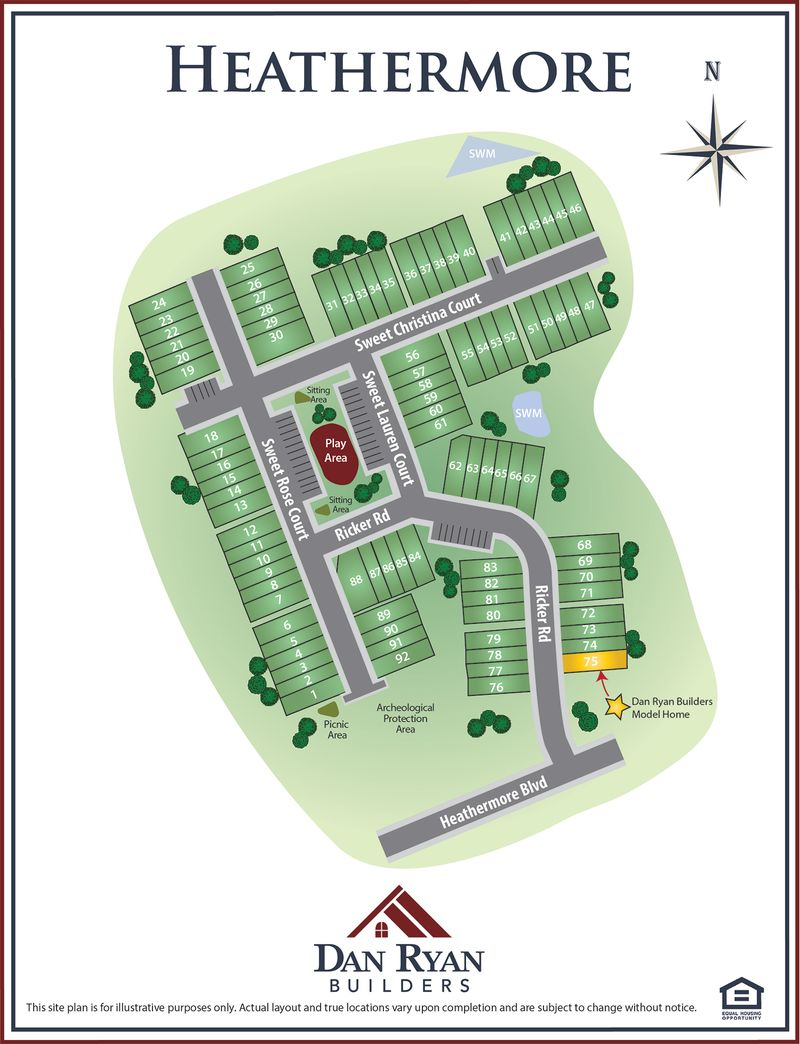 Heathermore Site Map