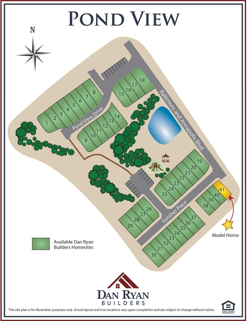 Pond View Site Map