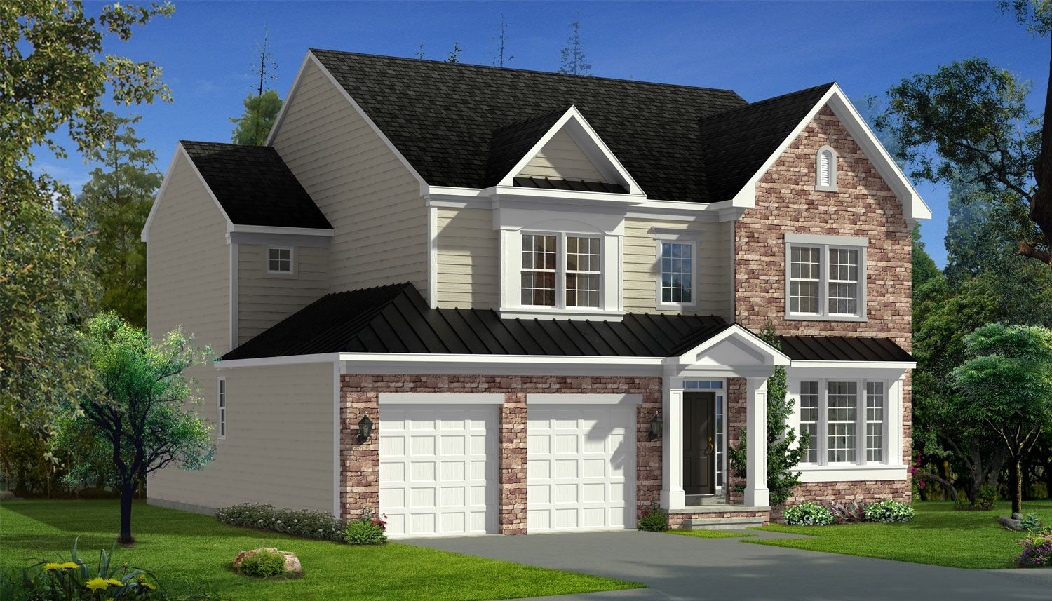 Exterior featured in the Belmont II By Dan Ryan Builders in Washington, WV
