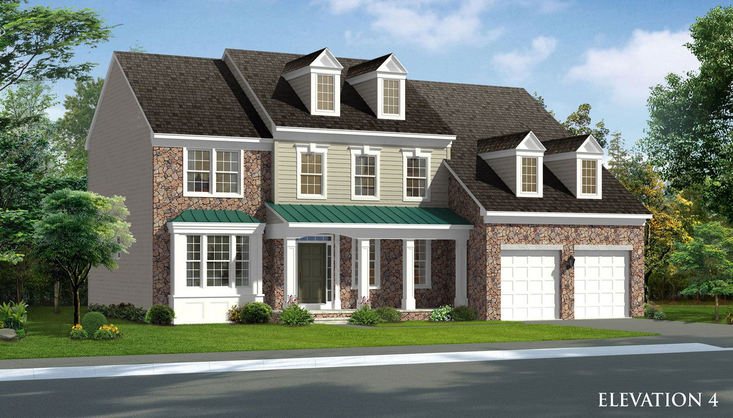 Exterior featured in the Rosecliff II By Dan Ryan Builders in Washington, WV