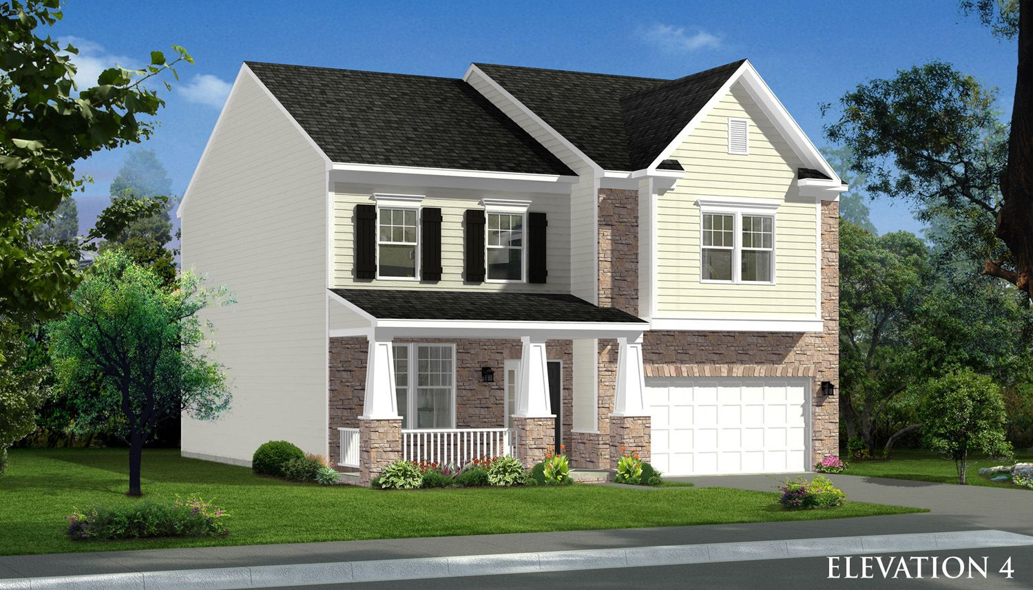Exterior featured in the Cumberland II By Dan Ryan Builders in Hagerstown, MD