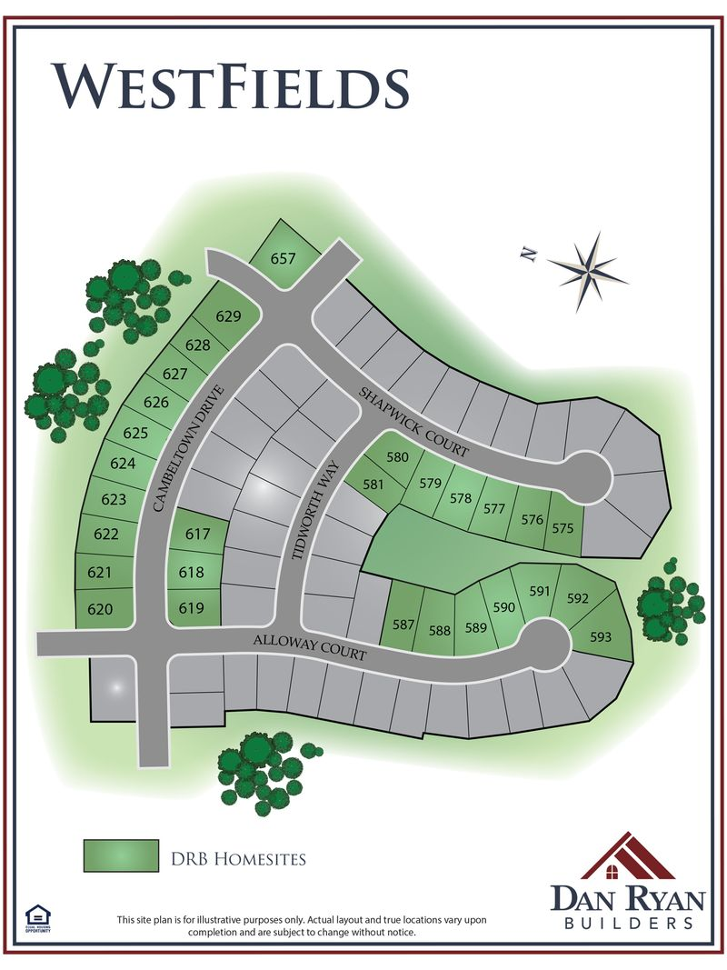 Westfields Site Map