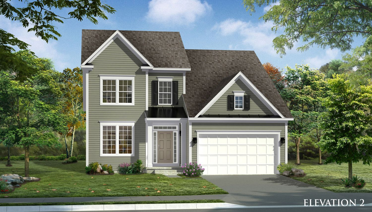 Exterior featured in the Gregory II By Dan Ryan Builders in Washington, MD