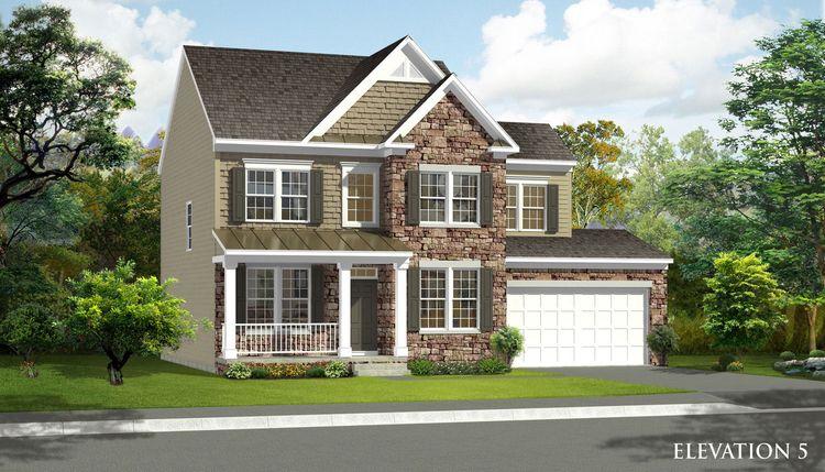 Exterior featured in the Newbury II By Dan Ryan Builders in Washington, MD