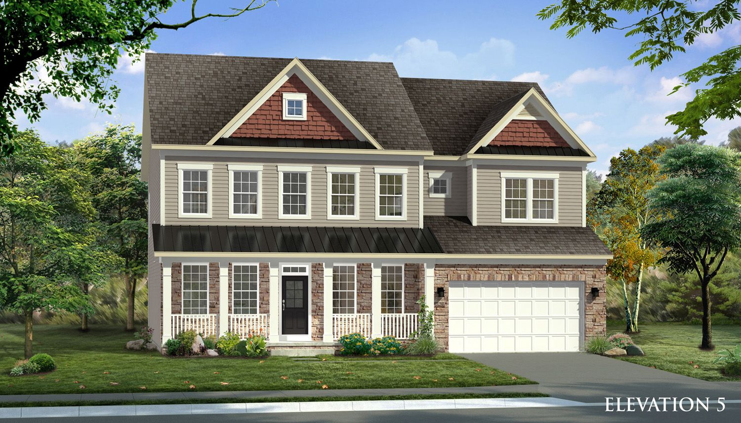 Exterior featured in the Emory II By Dan Ryan Builders in Washington, MD