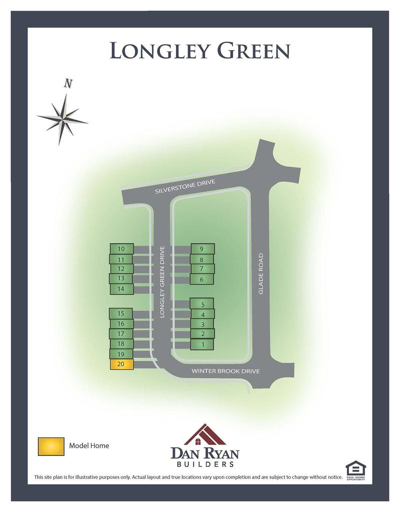 Longley Green Site Map