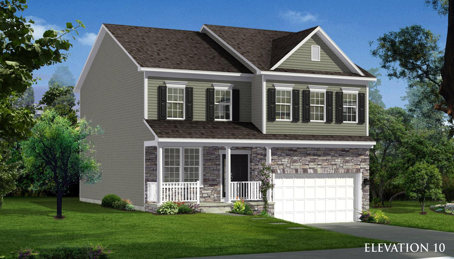 Exterior featured in the Cumberland II By Dan Ryan Builders in Washington, MD