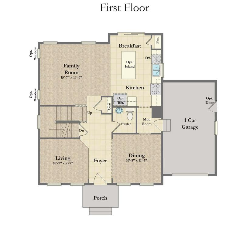 Newbury Ii Home Plan By Dan Ryan Builders In Westfields