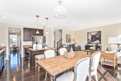 Greatroom-and-Dining-in-Newbury II-at-Glenn Dale Crossing Single Family Homes-in-Lanham