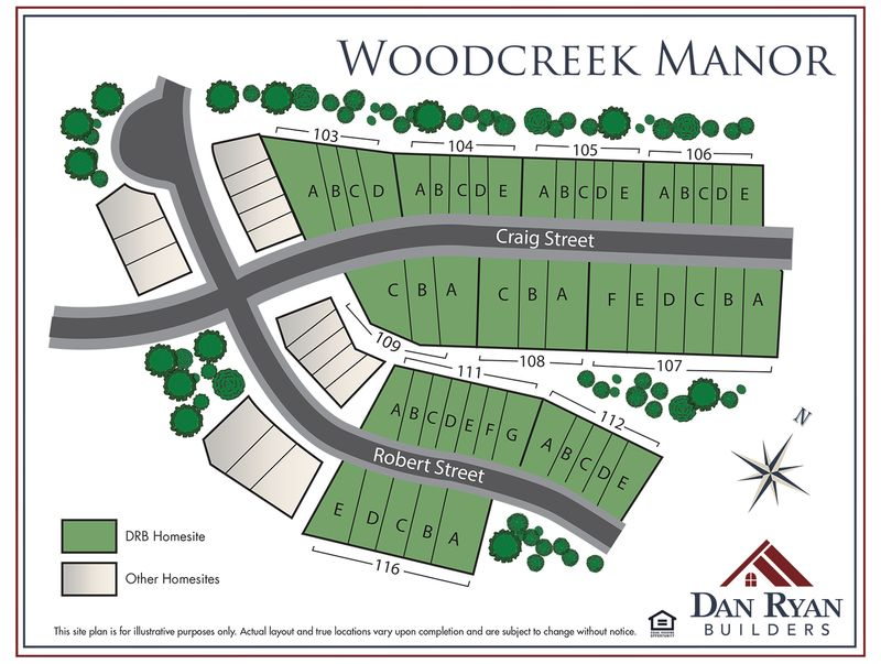 Woodcreek Manor Site Map