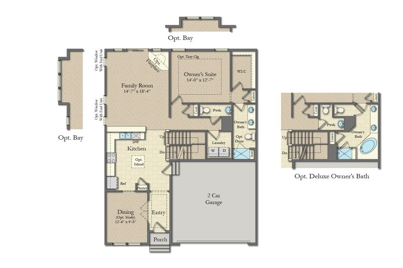Cambridge Home Plan By Dan Ryan Builders In Arden Farms