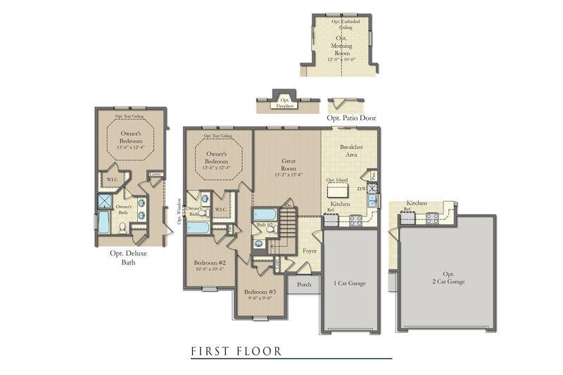 Wyatt ii home plan by dan ryan builders in willow terrace for 5668 willow terrace dr