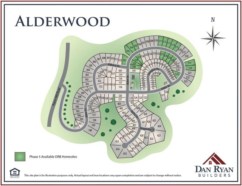 Alderwood Site Map