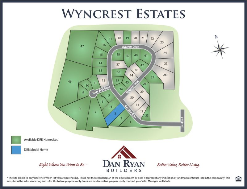 Wyncrest Site Map