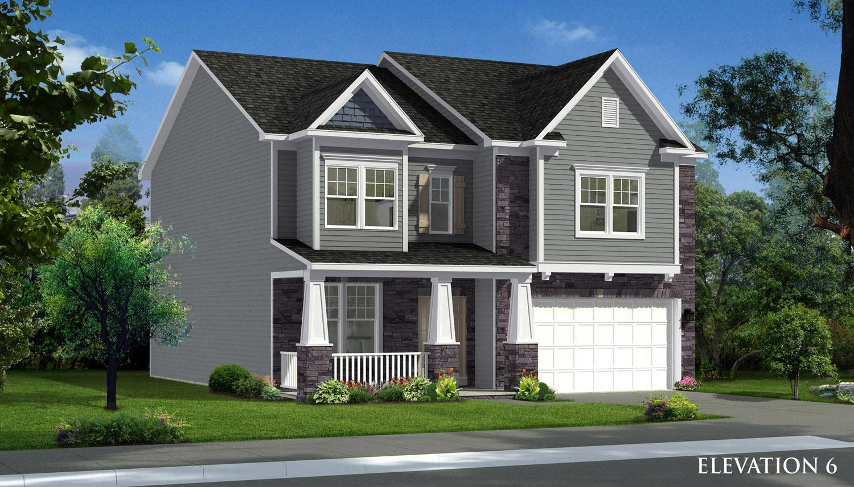 Exterior featured in the Cumberland II By Dan Ryan Builders in Morgantown, WV