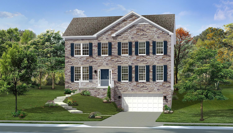 Exterior featured in the Princeton II By Dan Ryan Builders in Morgantown, WV