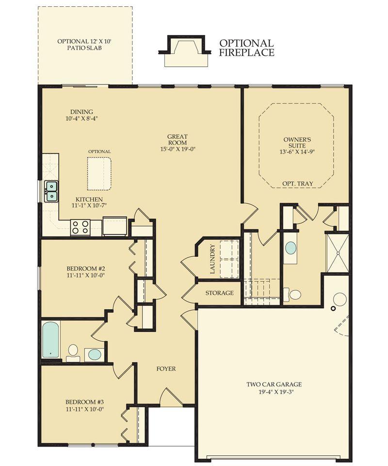Ashley Home Plan By Dan Ryan Builders In Brookfield Gardens