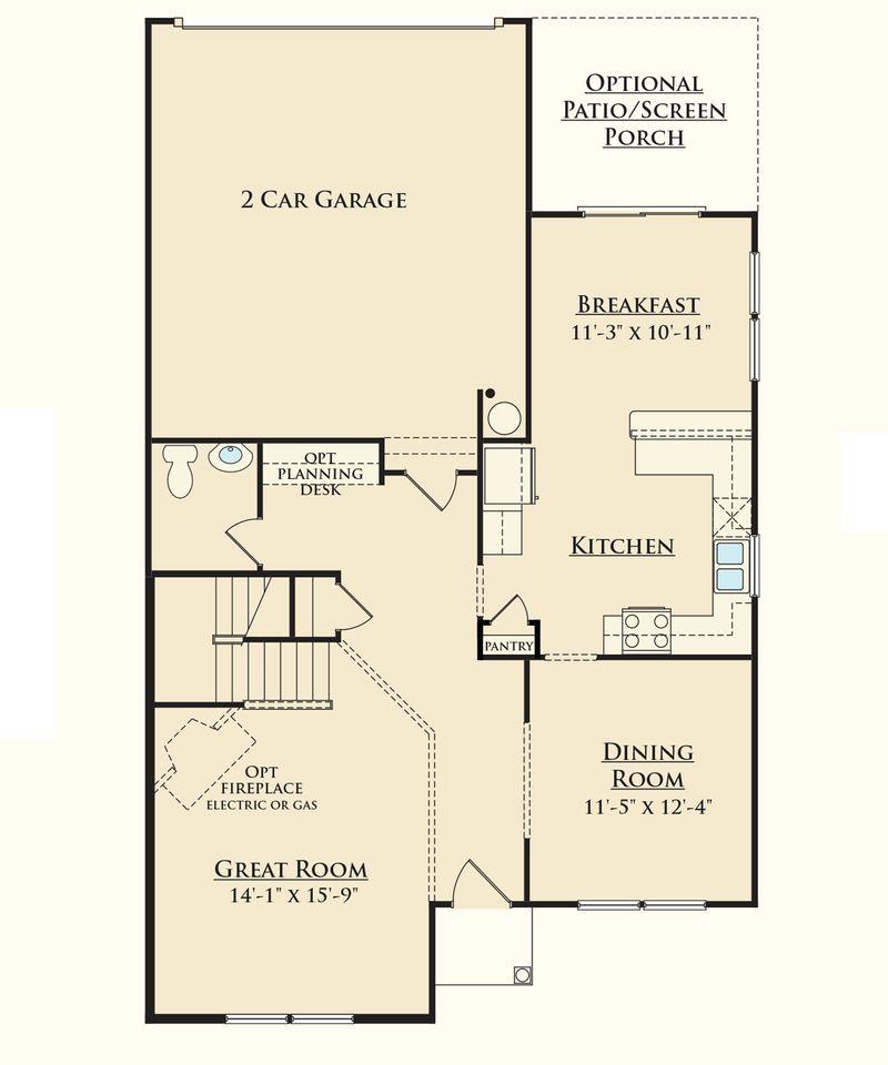 Grayson model at 103 meritage street for House plans greenville sc