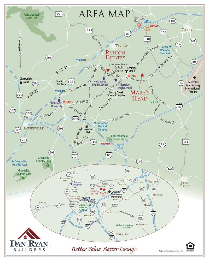 Runion Estates Area Map