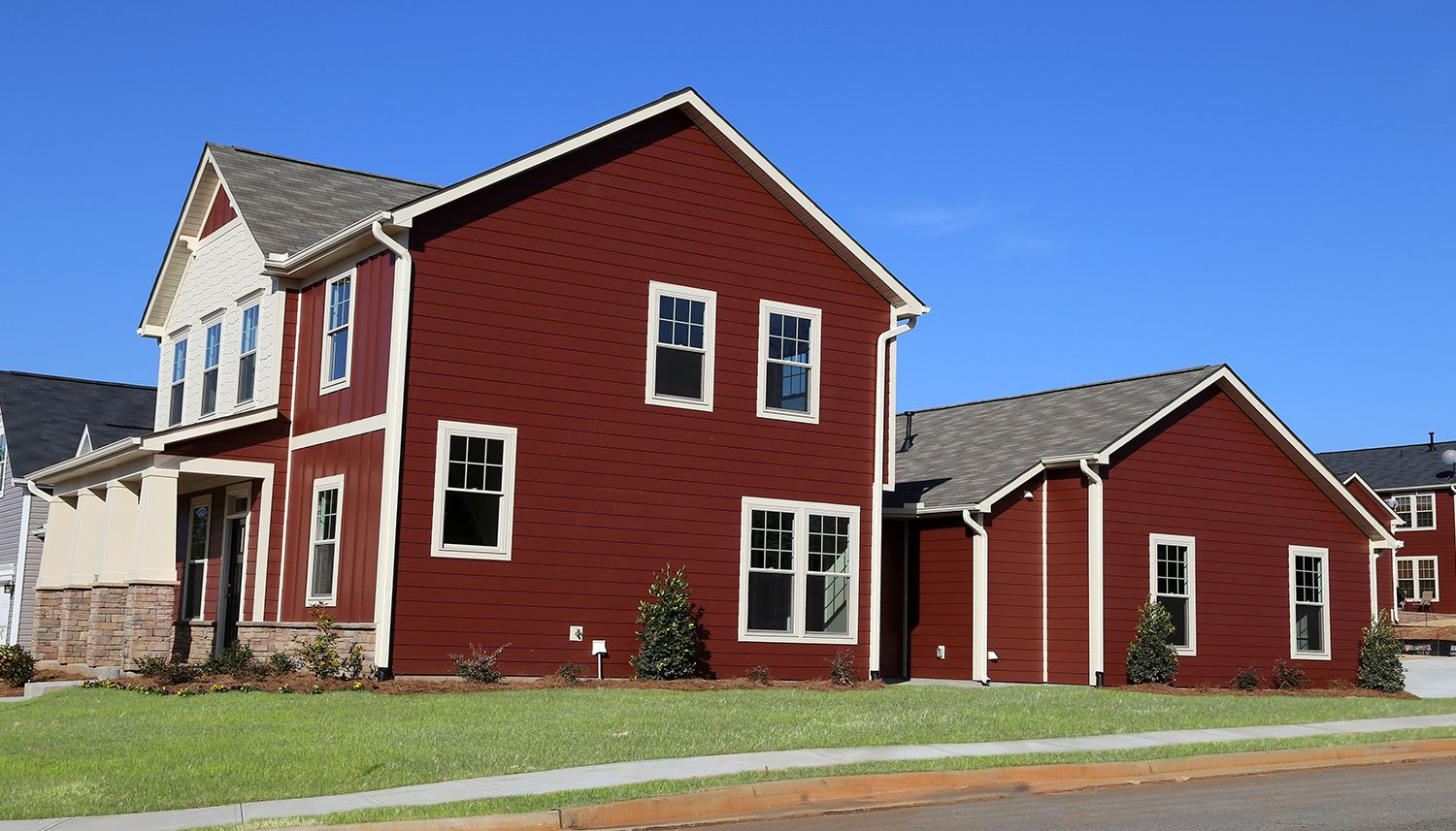 Exterior featured in the Harding By Dan Ryan Builders in Greenville-Spartanburg, SC