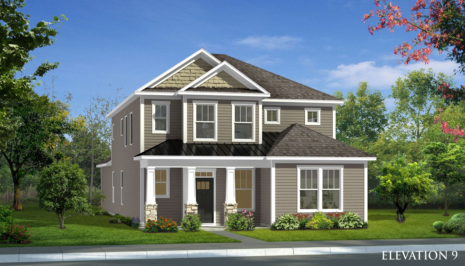 Exterior featured in the Raymore By Dan Ryan Builders in Greenville-Spartanburg, SC