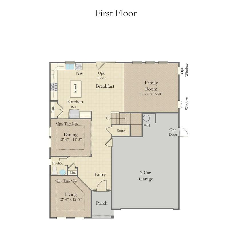 Drayton Home Plan By Dan Ryan Builders In The Village At Anderson Mill