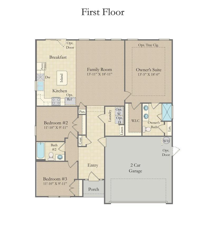 Parker Home Plan By Dan Ryan Builders In Anderson Grant