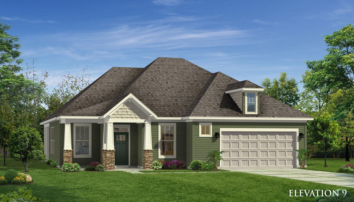 Exterior featured in the Oakleigh By Dan Ryan Builders in Greenville-Spartanburg, SC