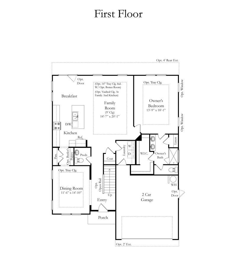 Middleton Home Plan By Dan Ryan Builders In Reid Park