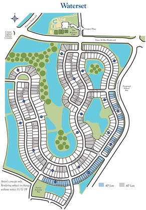 Waterset Plat Map