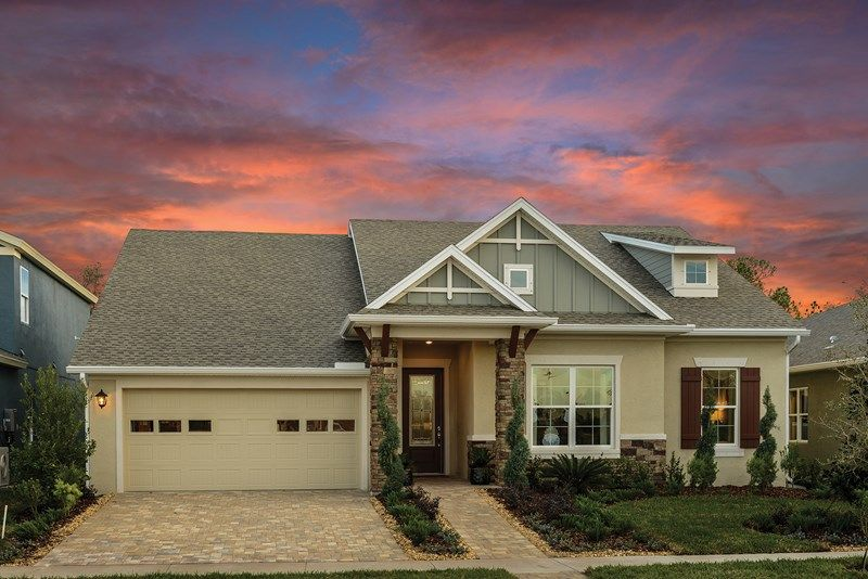 Exterior featured in the Tangelo By David Weekley Homes in Tampa-St. Petersburg, FL