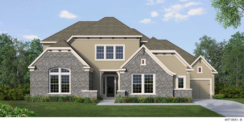 Exterior featured in the Camuto By David Weekley Homes in Houston, TX