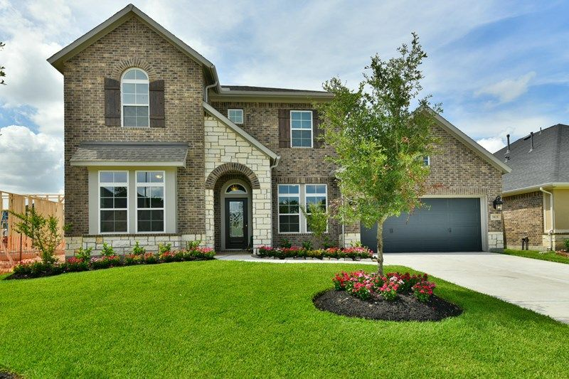 Exterior featured in the Blanco By David Weekley Homes in Houston, TX