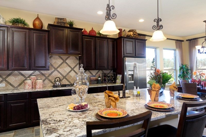 Kitchen-in-Watercress-at-Towne Lake 70' Classic Series-in-Cypress